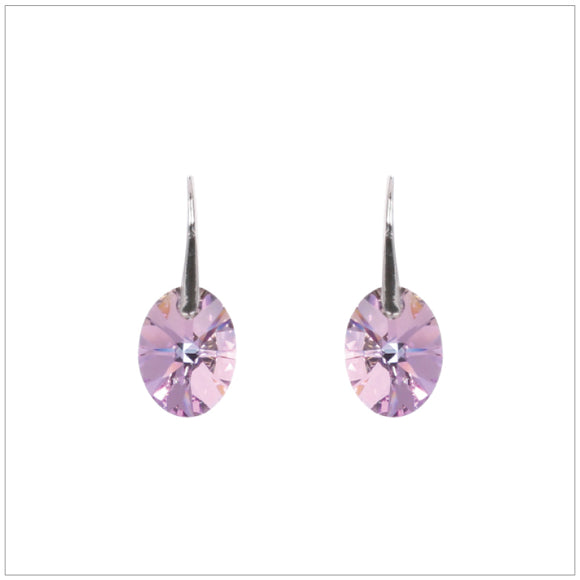 Swarovski Element Oval Earrings - Vitrail Light