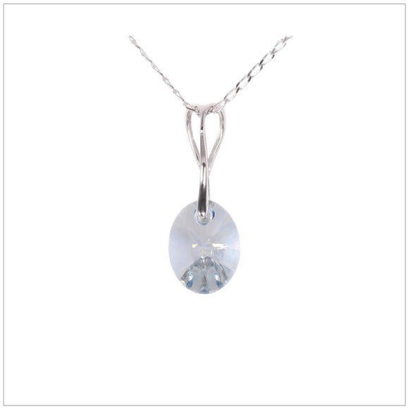 Swarovski Element Oval Necklace - Blue Shadow