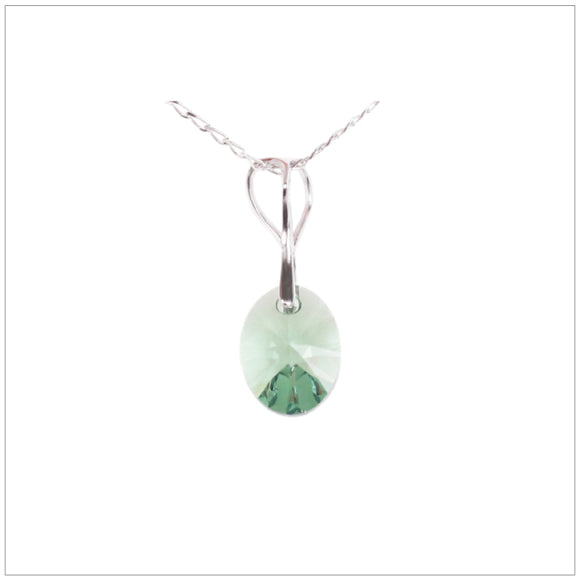 Swarovski Element Oval Necklace - Fern Green