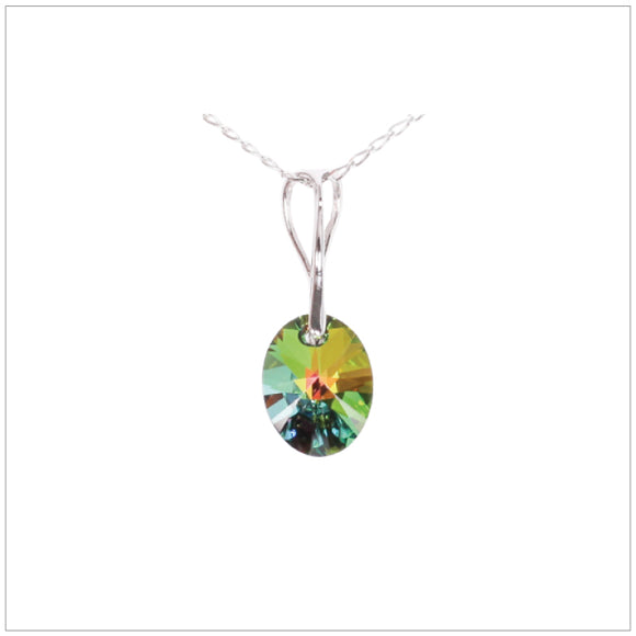Swarovski Element Oval Necklace - Vitrail Medium