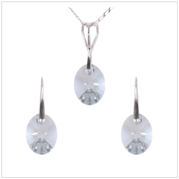 Swarovski Element Oval Set - Blue Shadow