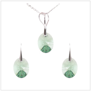 Swarovski Element Oval Set - Fern Green