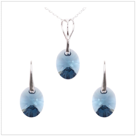 Swarovski Element Oval Set - Montana