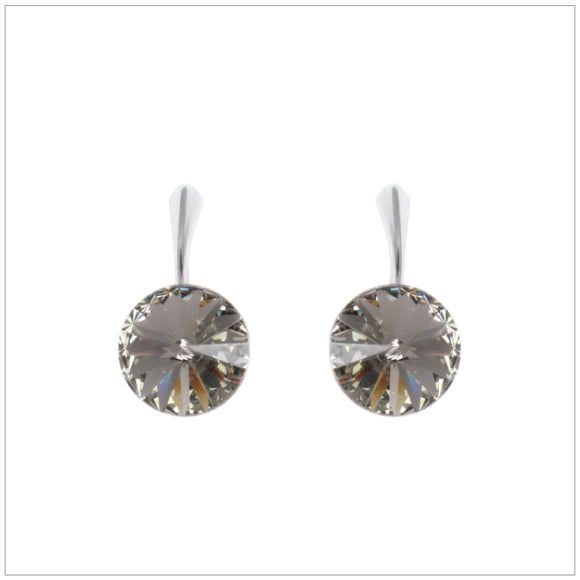 Swarovski Element Rivoli Earrings - Black Diamond - swarovski jewellery south africa kcrystals