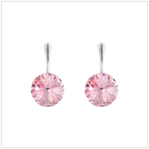 Swarovski Element Rivoli Earrings - Light Rose - K. Crystals Online