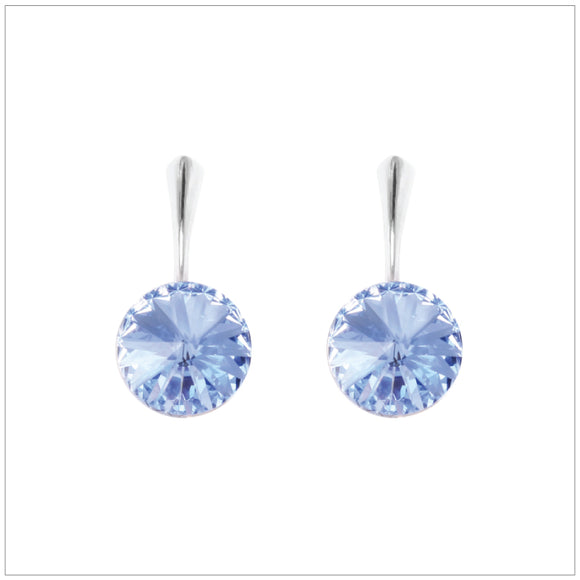 Swarovski Element Rivoli Earrings - Light Sapphire - swarovski jewellery south africa kcrystals