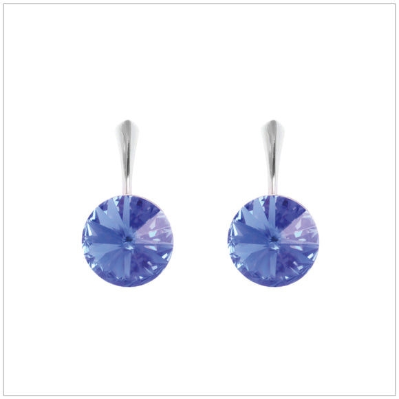 Swarovski Element Rivoli Earrings - Sapphire - swarovski jewellery south africa kcrystals