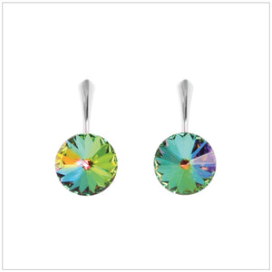 Swarovski Element Rivoli Earrings - Vitrail Medium - K. Crystals Online
