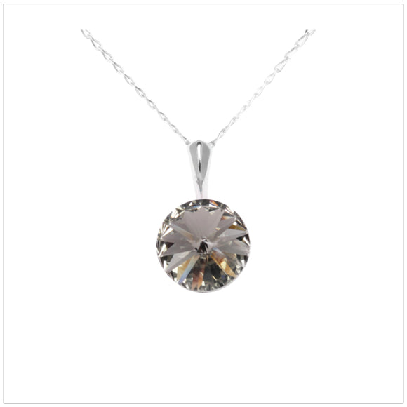 Swarovski Element Rivoli Necklace - Black Diamond - swarovski jewellery south africa kcrystals
