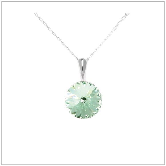 Swarovski Element Rivoli Necklace - Chrysolite - swarovski jewellery south africa kcrystals