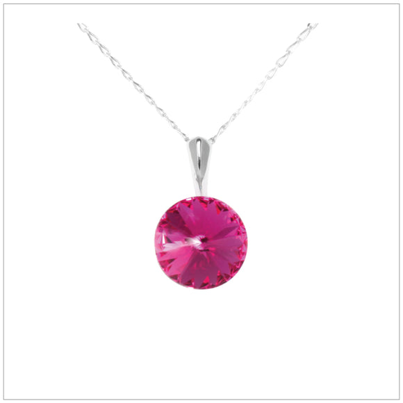 Swarovski Element Rivoli Necklace - Fuchsia - swarovski jewellery south africa kcrystals
