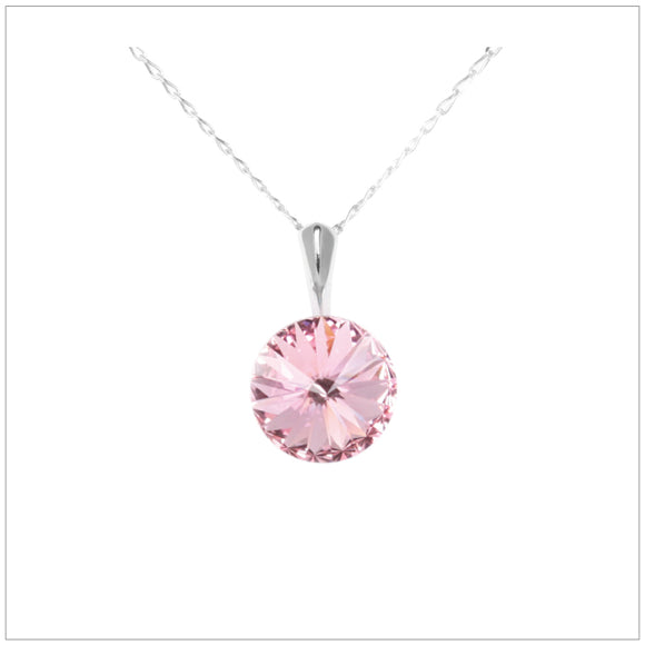 Swarovski Element Rivoli Necklace - Light Rose - swarovski jewellery south africa kcrystals