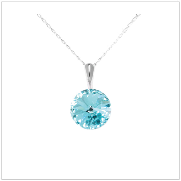 Swarovski Element Rivoli Necklace - Light Turquoise - swarovski jewellery south africa kcrystals