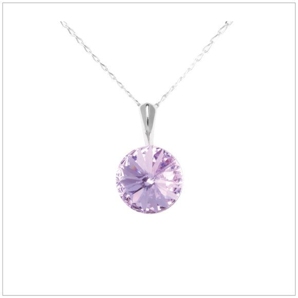 Swarovski Element Rivoli Necklace - Violet - K. Crystals Online