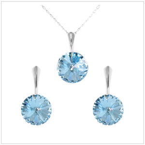 Swarovski Element Rivoli Set - Aquamarine - swarovski jewellery south africa kcrystals