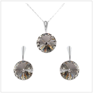 Swarovski Element Rivoli Set - Black Diamond - swarovski jewellery south africa kcrystals