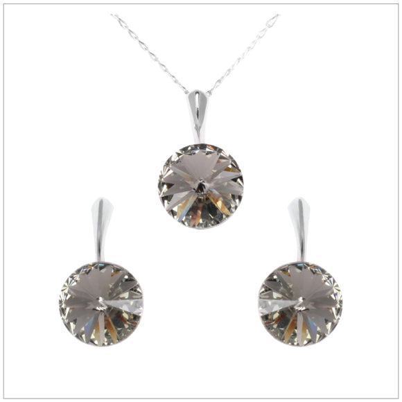 Swarovski Element Rivoli Set - Black Diamond - K. Crystals Online