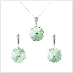 Swarovski Element Rivoli Set - Chrysolite - swarovski jewellery south africa kcrystals