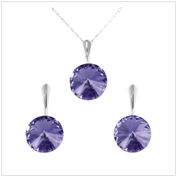 Swarovski Element Rivoli Set - Tanzanite - swarovski jewellery south africa kcrystals