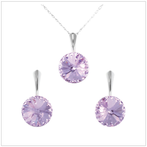 Swarovski Element Rivoli Set - Violet - K. Crystals Online