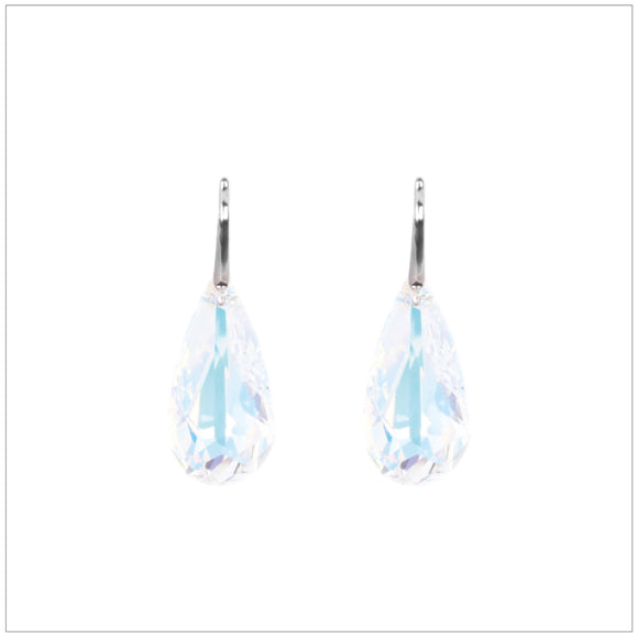 Swarovski Element Tear Earrings - Aurore Boreale - K. Crystals Online
