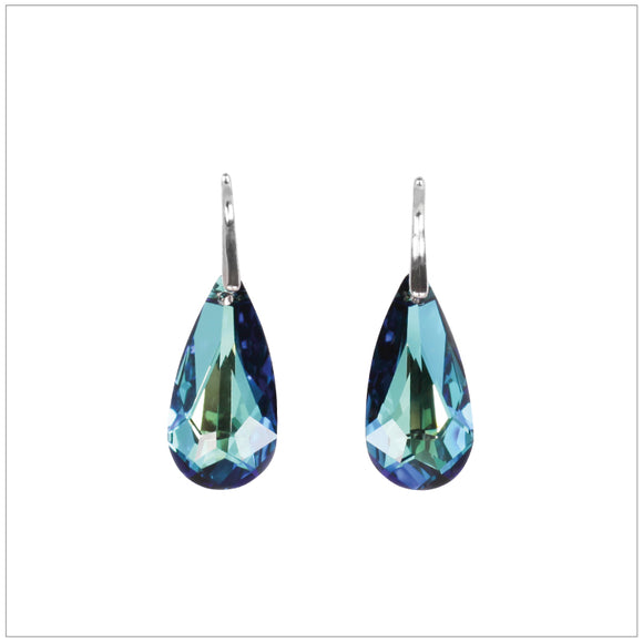 Swarovski Element Tear Earrings - Bermuda Blue - K. Crystals Online