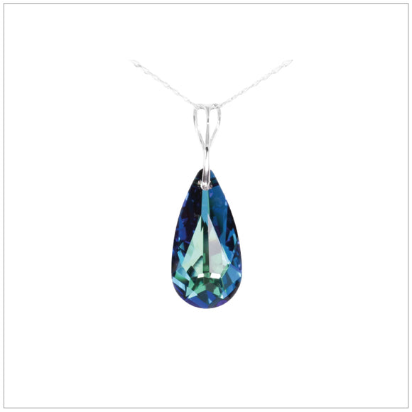 Swarovski Element Tear Necklace - Bermuda Blue - swarovski jewellery south africa kcrystals