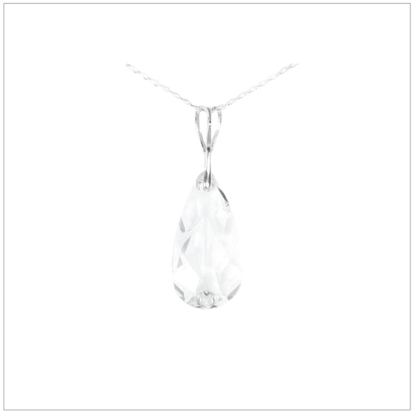 Swarovski Element Tear Necklace Crystal - swarovski jewellery south africa kcrystals