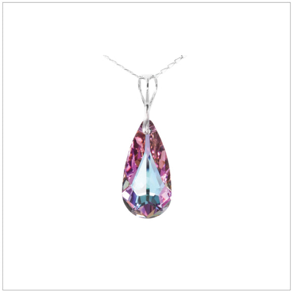Swarovski Element Tear Necklace - Vitrail Light - swarovski jewellery south africa kcrystals