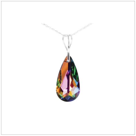 Swarovski Element Tear Necklace - Vitrail Medium - swarovski jewellery south africa kcrystals