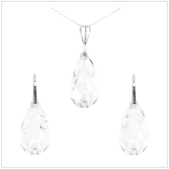 Swarovski Element Tear Set - Crystal - swarovski jewellery south africa kcrystals