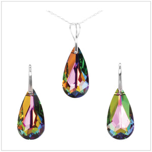 Swarovski Element Tear Set - Vitrail Medium - swarovski jewellery south africa kcrystals