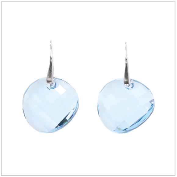 Swarovski Element Twist Jet Earrings - Aquamarine - swarovski jewellery south africa kcrystals