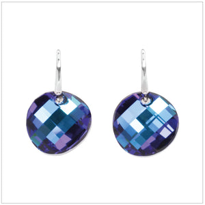 Swarovski Element Twist Jet Earrings - Bermuda Blue - swarovski jewellery south africa kcrystals