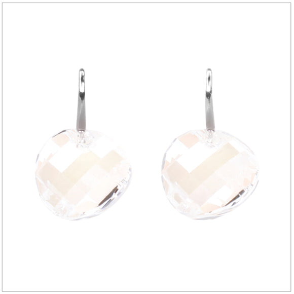 Swarovski Element Twist Jet Earrings - Moon Light - swarovski jewellery south africa kcrystals