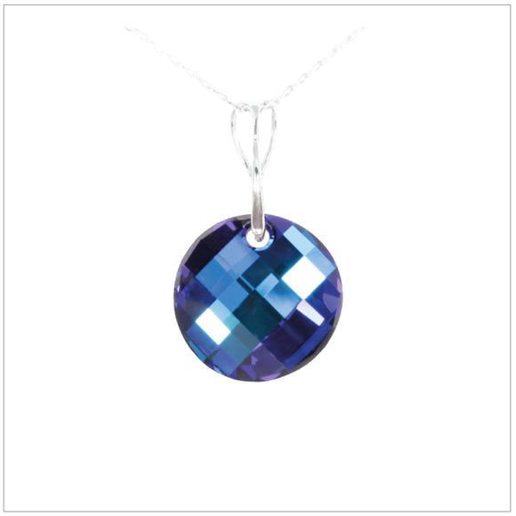 Swarovski Element Twist Jet Necklace - Bermuda Blue - swarovski jewellery south africa kcrystals