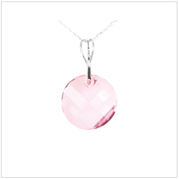 Swarovski Element Twist Jet Necklace - Light Rose - swarovski jewellery south africa kcrystals