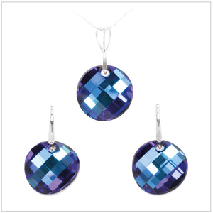 Swarovski Element Twist Jet Set - Bermuda Blue - swarovski jewellery south africa kcrystals