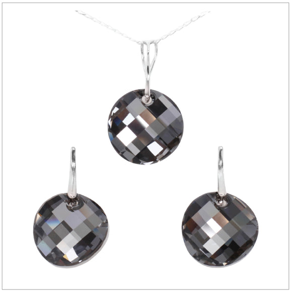 Swarovski Element Twist Jet Set - Silver Night - swarovski jewellery south africa kcrystals