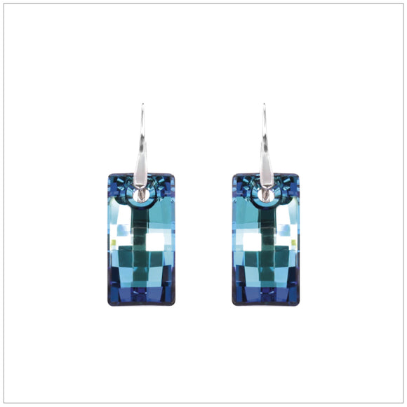 Swarovski Element Urban Earrings - Bermuda Blue - swarovski jewellery south africa kcrystals