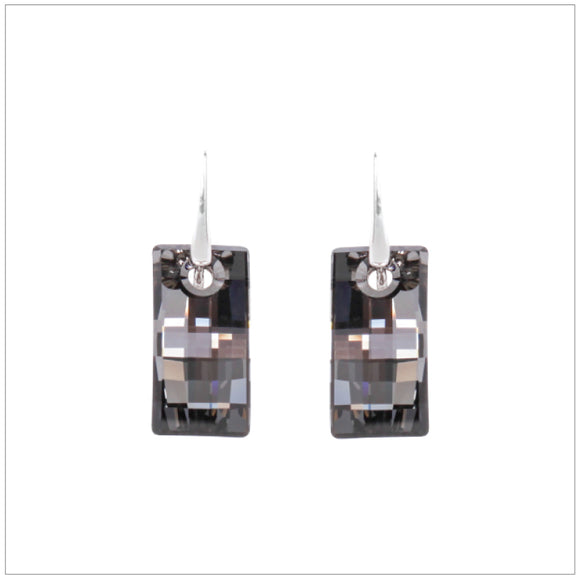 Swarovski Element Urban Earrings - Silver Night - swarovski jewellery south africa kcrystals