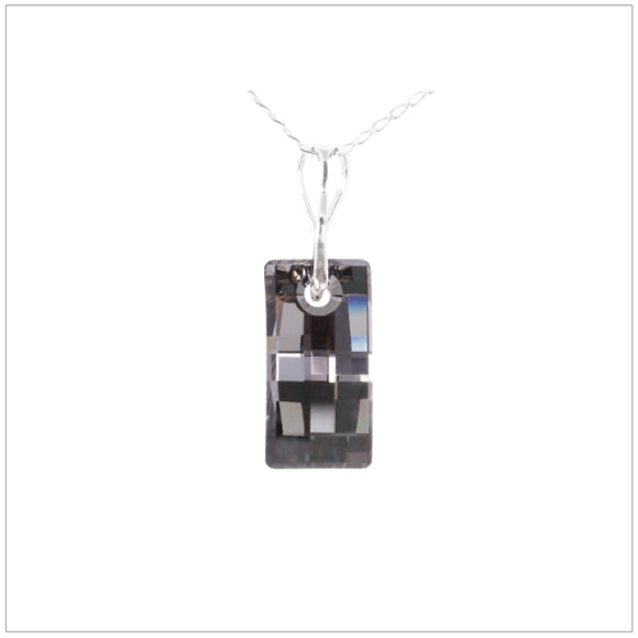 Swarovski Element Urban Necklace - Silver Night - swarovski jewellery south africa kcrystals
