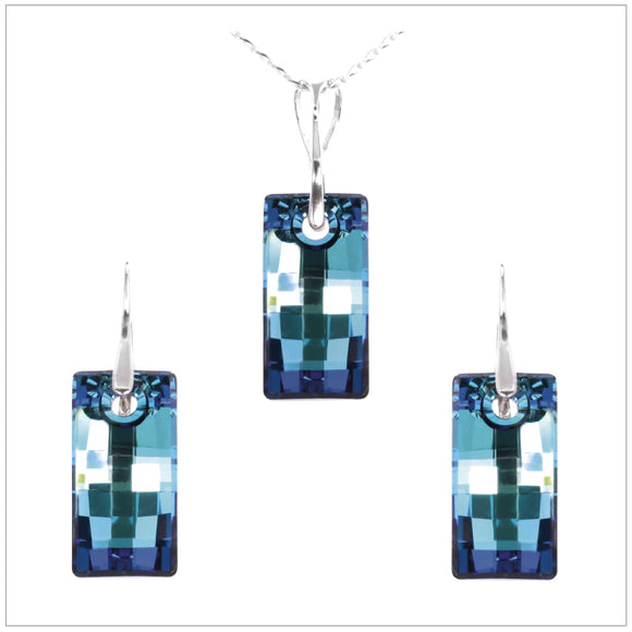 Swarovski Element Urban Set - Bermuda Blue - swarovski jewellery south africa kcrystals