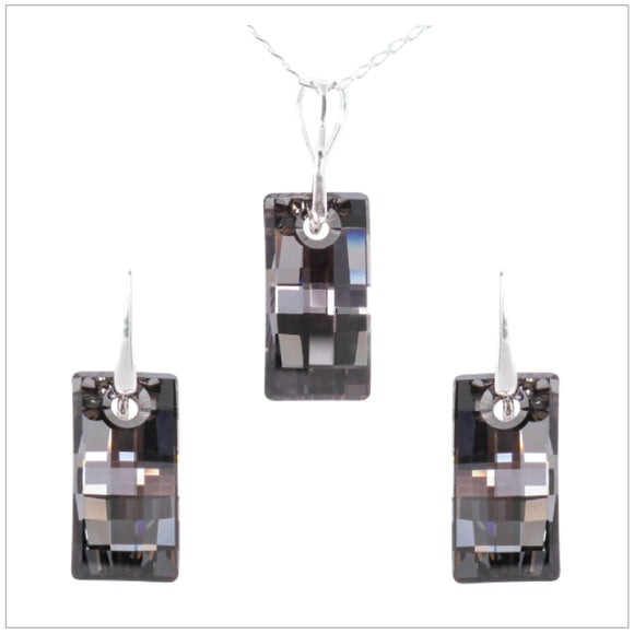 Swarovski Element Urban Set - Silver Night - swarovski jewellery south africa kcrystals