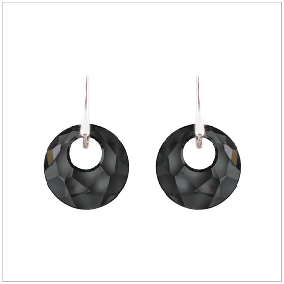 Swarovski Element Victory Earrings - Silver Night - K. Crystals Online