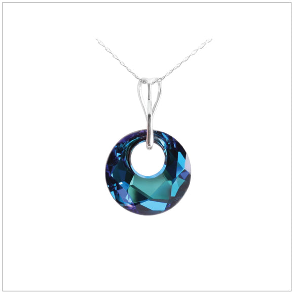Swarovski Element Victory Necklace - Bermuda Blue - K. Crystals Online