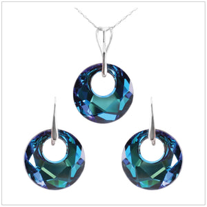 Swarovski Element Victory Set - Bermuda Blue - swarovski jewellery south africa kcrystals