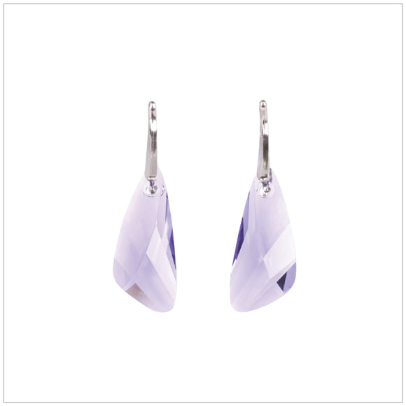 Swarovski Element Wing Earrings - Tanzanite - swarovski jewellery south africa kcrystals