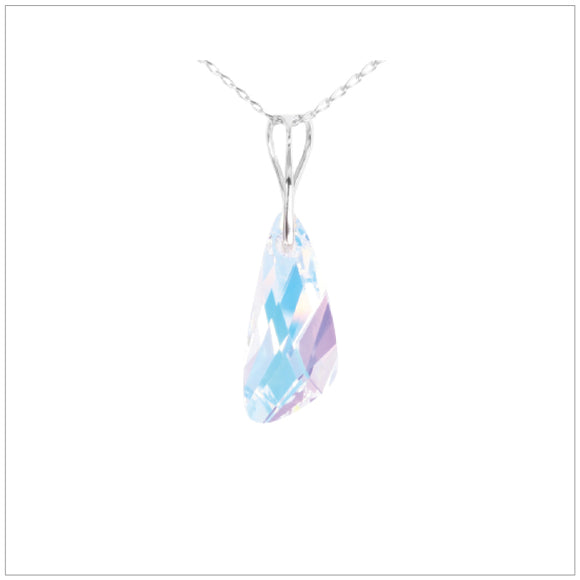 Swarovski Element Wing Necklace - Aurore Boreale - swarovski jewellery south africa kcrystals