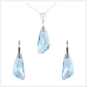 Swarovski Element Wing Set - Aquamarine - swarovski jewellery south africa kcrystals